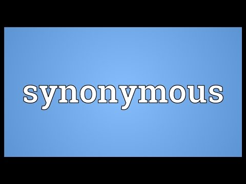 Synonymous Meaning