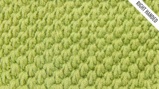 The Tunisian Ocean Stitch:: Tunisian Crochet Stitch #12 :: Right Handed