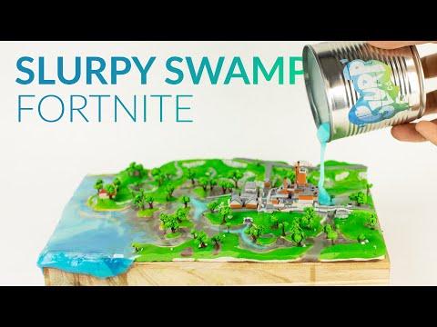 Making SLURPY SWAMP With Clay & Slurp (Fortnite Battle Royale)