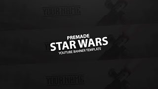 Photoshop- Star Wars Youtube Banner Template