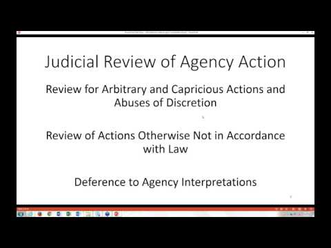 Administrative Procedure Act: Understanding the breadth & limits of agency power