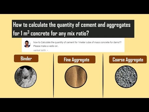 How to calculate the quantity of cement and aggregates for 1 metre cubic concrete for any mix ratio? - 동영상