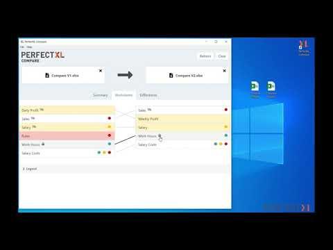 Compare 2 Excel Files with PerfectXL Compare