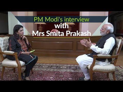 PM Modi's interview with Mrs Smita Prakash