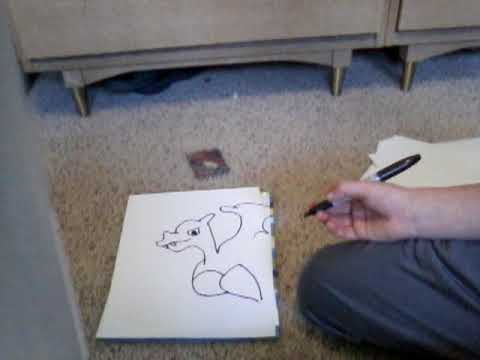 How to draw Charizard GX.