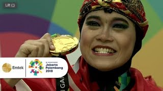 Download Video Pengalungan Medali Emas Puspa Arumsari Untuk Pencak Silat Indonesia | Asian Games 2018 MP3 3GP MP4
