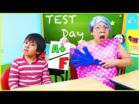 Ryan Pretend Play School Test Day Learn Healthy Choices!! thumbnail