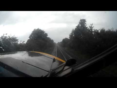 British Rail Class 37 cab ride Hull to Selby 1Q99 Network Rail Infrastructure Monitoring Test Train