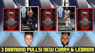 3 DIAMONDS IN ONE BOX! DIAMOND CURRY AND LEBRON! BEST PACK OPENING! NBA 2K18 MYTEAM