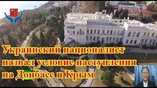 Украинский националист назвал условие наступления на Донбасс и Крым