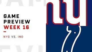 New York Giants vs. Indianapolis Colts | Week 16 Game Preview | NFL Playbook