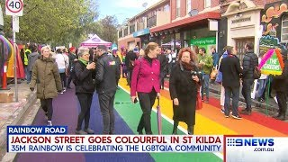 Nine + Seven News. St Kilda Council Dictates LGBTP Political Street.(Marxism)(Melbourne)