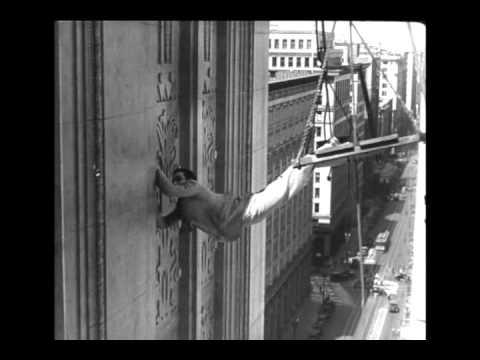 Harold Lloyd in Feet First (1930) - The Climbing Scene, Part 2