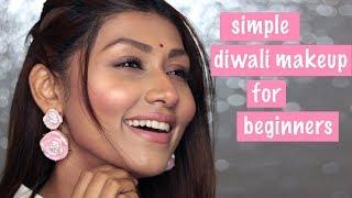 Simple Diwali Makeup | Hindi Makeup Tutorial for Beginners | Bosslady Shruti