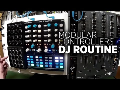 Modular DJ Routine: Traktor, A 4-Channel Mixer, Two X1s + Two Midi Fighters