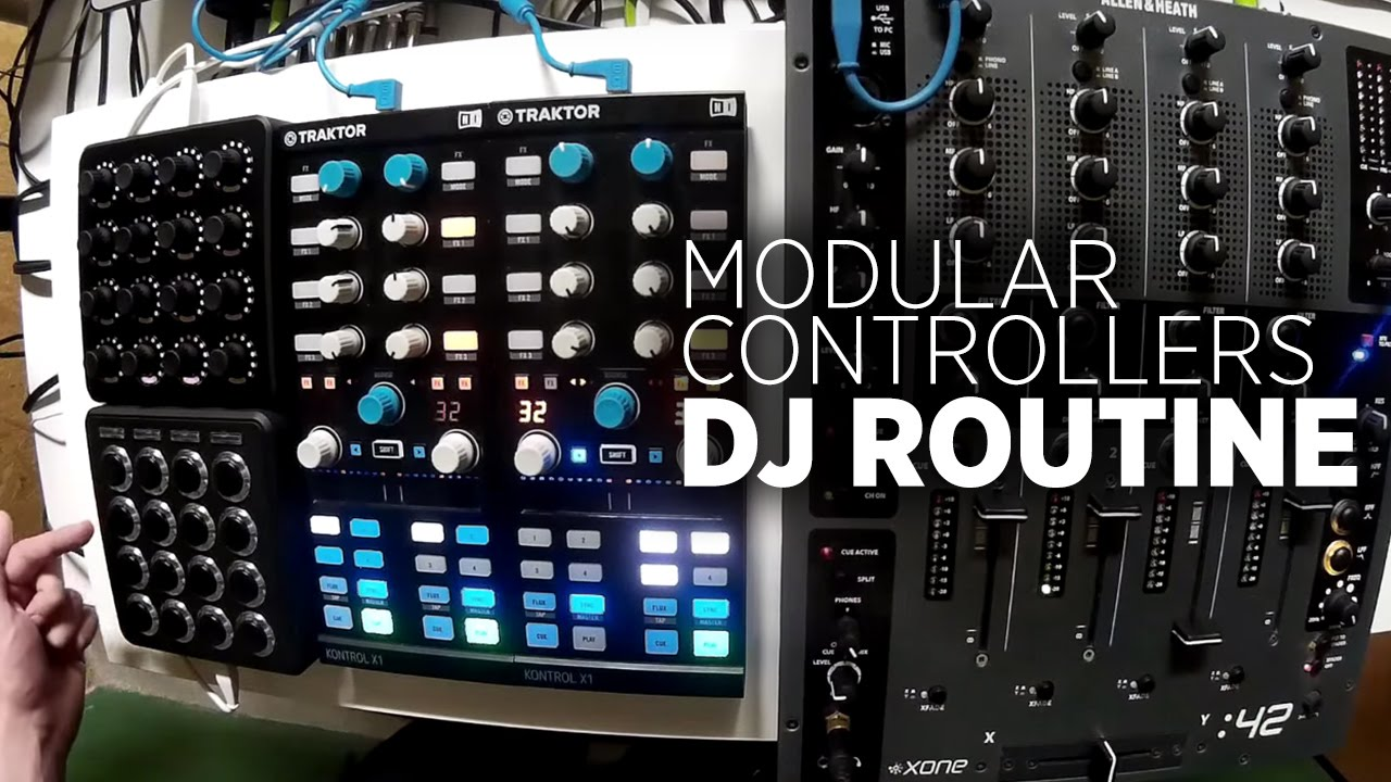 Modular Dj Routine Traktor A 4 Channel Mixer Two X1s Midi Audio With Multiple Input Channels Fighters Youtube