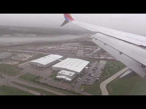 Southwest Airlines Landing In William P. Hobby Airport In Houston, Texas