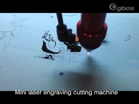 minitype laser cutting machine (The paper templated of Christmas designs cutting)