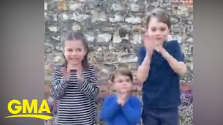 The Royal Family shares sweet message for medical professionals fighting coronavirus | GMA Digital