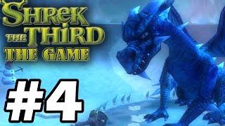 Прохождение Шрек Третий / Shrek The Third - Серия 4 - Босс: Ледяной дракон.