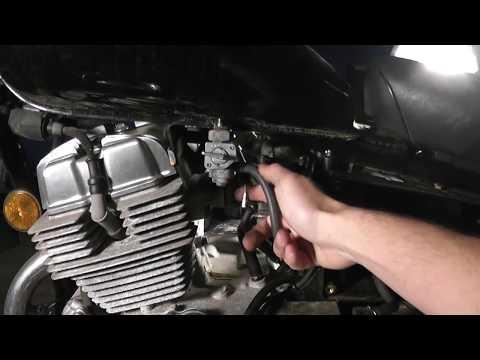 Removing the carburetor on a 2001 Honda Rebel (CMX 250C)