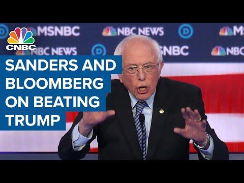 Michael Bloomberg and Bernie Sanders spar at the open of the Democratic debate