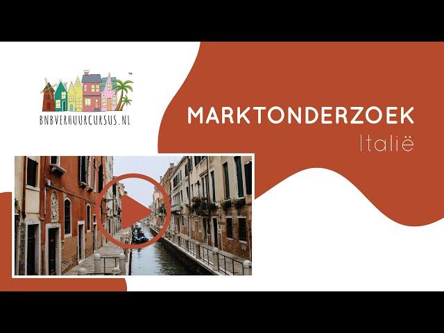 Marktonderzoek Italië BNB (vakantie) verhuur