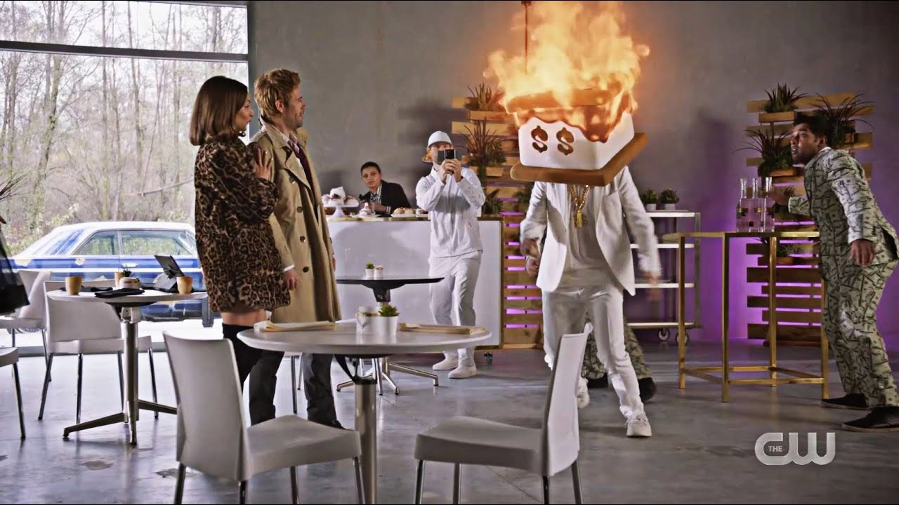 Download Constantine Sets DJ S'More Money on Fire   DC's Legends of Tomorrow 6x03 The Ex-Factor #TheCW (HD)