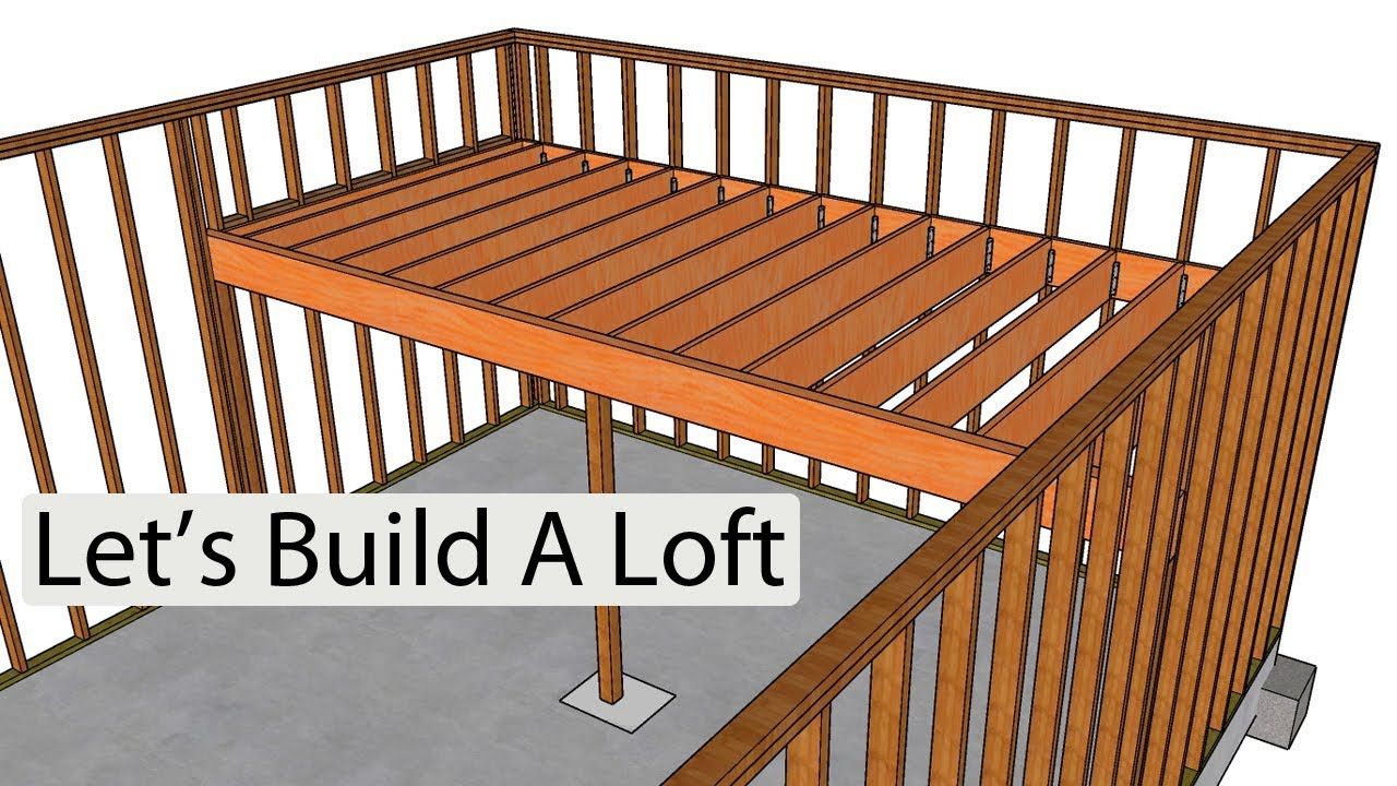 How to frame and build a loft home design examples youtube for How to build a mezzanine floor in a garage