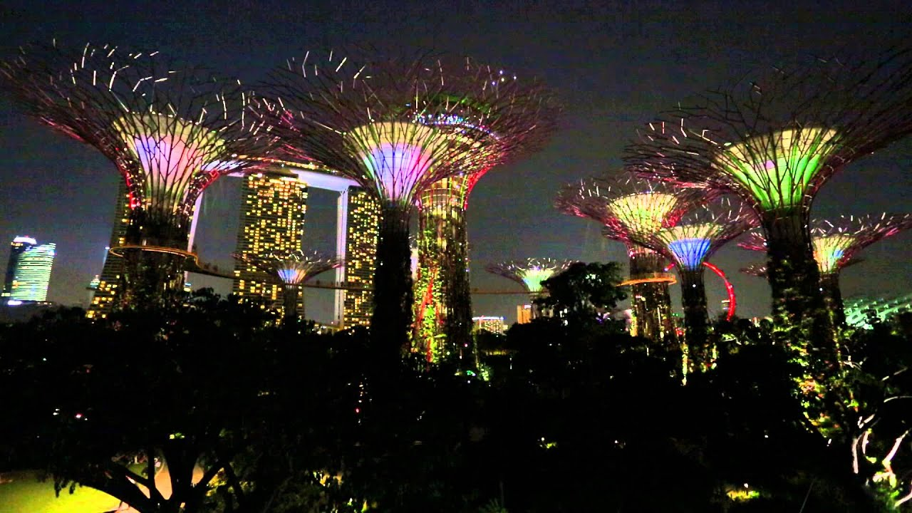 garden by the bay at marina sands night lightshow youtube