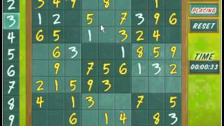 Game House Sudoku Online Level 1  1:33