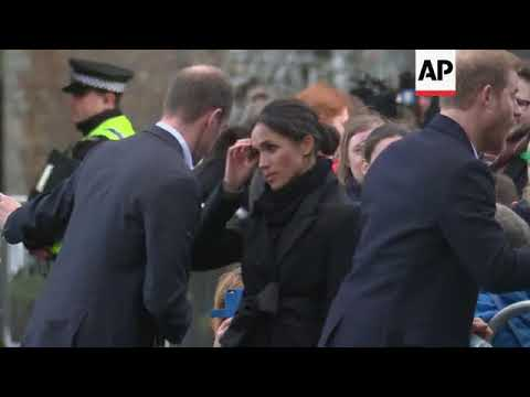 Prince Harry and fiancee Meghan Markle visit Cardiff