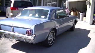 1965 Blue Metallic Mustang Coupe