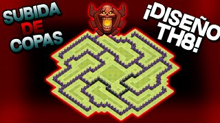 Aldea Subida De Copas   Ayuntamiento 8   TH8   Clash Of Clans   byGenesys