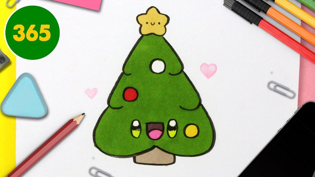 Comment Dessiner Un Sapin De Noël Kawaii étape Par étape Dessins Kawaii Facile