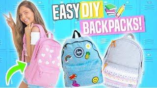 Easy DIY Backpacks for Back To School 2017!