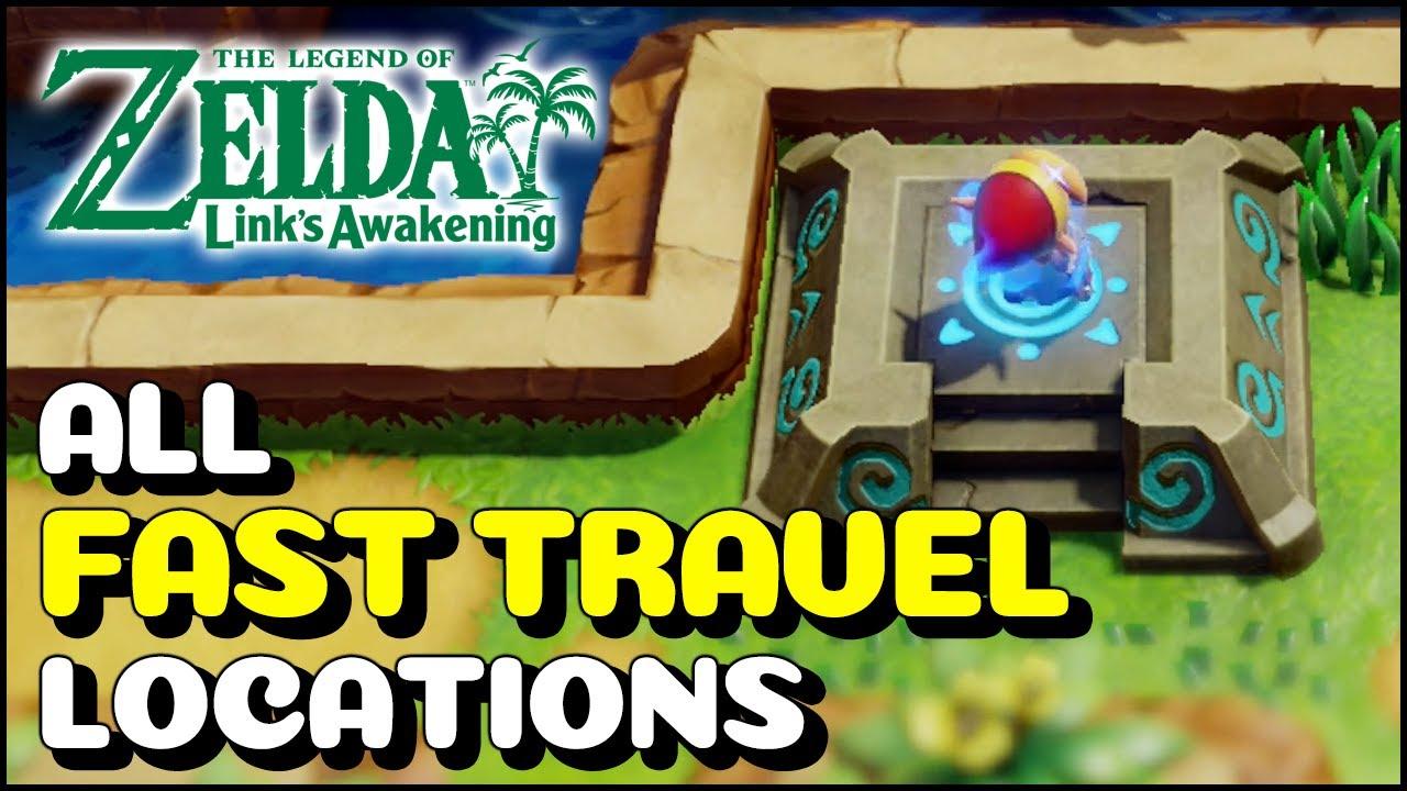 All Fast Travel Points Location The Legend Of Zelda Link S Awakening