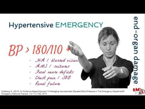 Hypertensive Emergency Treatment
