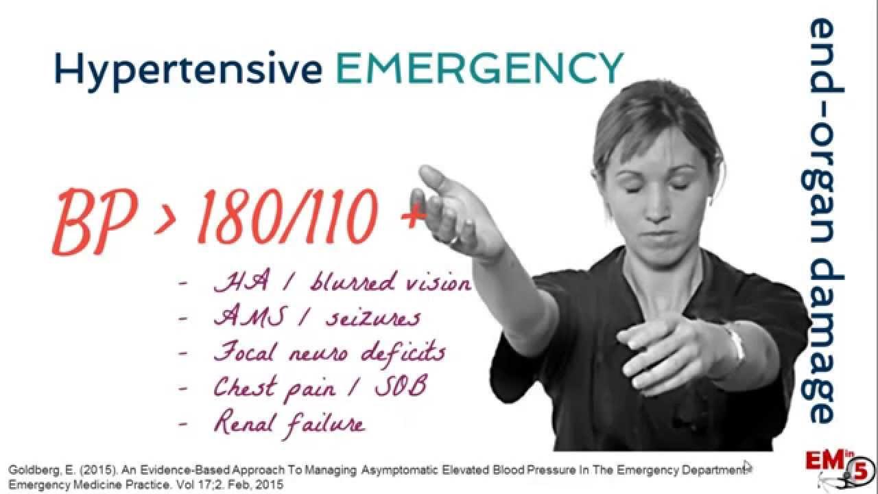 hypertensive urgency vs emergency guidelines