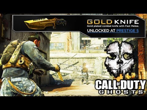 THE FIRST DLC MELEE WEAPON EVER In COD HISTORY... (COD Ghosts Gold Knife)