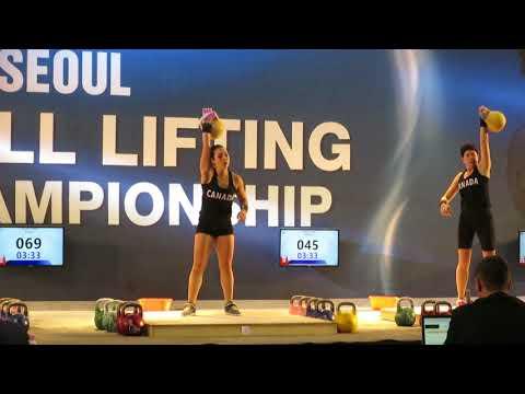 Rachel Robertson Gold Medal Snatch   IUKL Worlds 2017 in Seoul