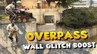 CS:GO - Overpass Wall Glitch Boost - Peek Toilets and Short A LIKE A BOSS!