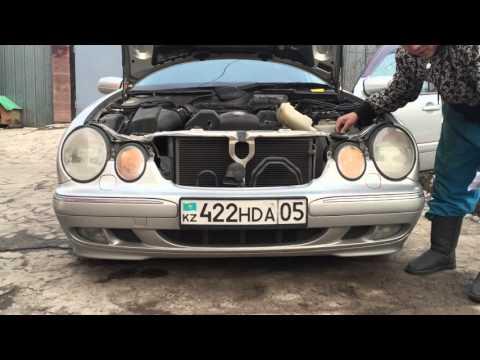Установка (ДХО) дневные ходовые огни в дальний Свет Mercedes w210 (Installing DRL in Mercedes w210)