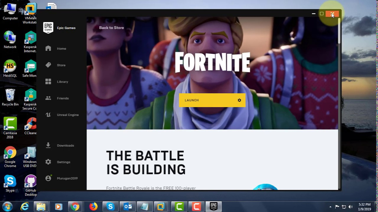 fortnite wont download on computer