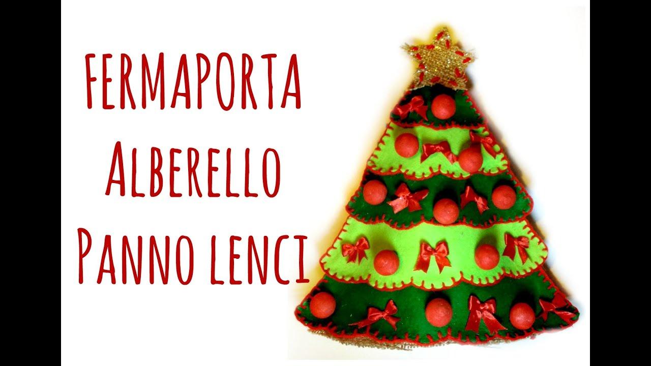 abbastanza Alberello di Natale Fermaporta in Pannolenci (Cucito Creativo  NY34