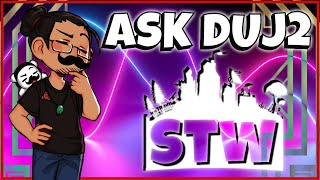 BIG Questions BIGGER Answers! Weekly Q&A | Fortnite STW