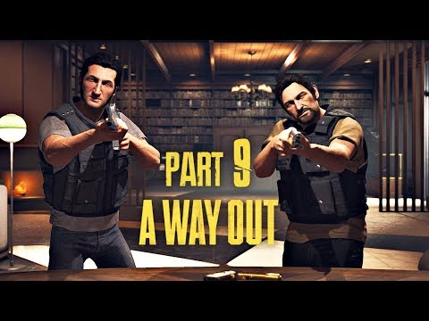 A Way Out Co-Op Walkthrough Part 9 - Free Fall & Ambush | PS4 Pro Gameplay