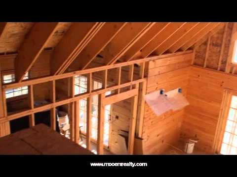 Maine Property, Log Home On Lower Hot Brook Lake Waterfront.