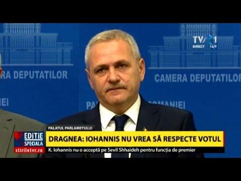 Declaraţii Liviu Dragnea după ce Klaus Iohannis nu a acceptat-o pe Sevil Shhaideh ca prim-ministru