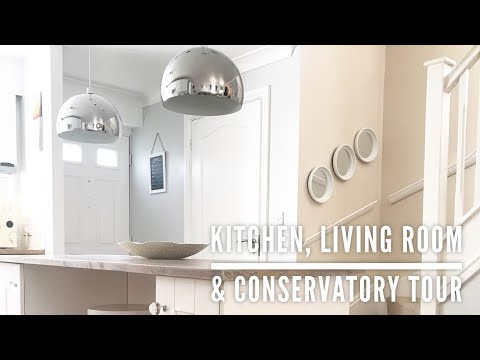 KITCHEN, LIVING ROOM & CONSERVATORY TOUR | HOME TOUR PART 3 | CARLY JADE DRAKE